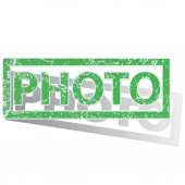 Green outlined PHOTO stamp — Stock Vector