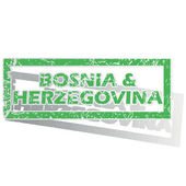 Outlined Bosnia and Herzegovina stamp — Stock Vector