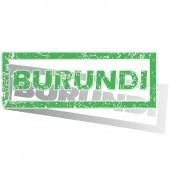 Green outlined Burundi stamp — Cтоковый вектор