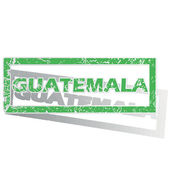 Green outlined Guatemala stamp — Stockvector
