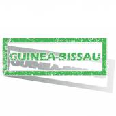 Green outlined Guinea-Bissau stamp — Stock Vector