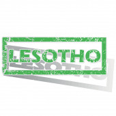 Green outlined Lesotho stamp — Stock Vector