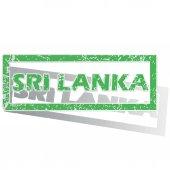 Green outlined Sri Lanka stamp — Stock Vector