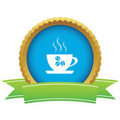 Coffee cup certificate icon — Stok Vektör