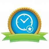 Best time certificate icon — Stock Vector