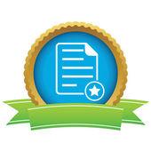 Favorite document certificate icon — Stock Vector