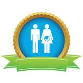 Young family certificate icon — Vector de stock