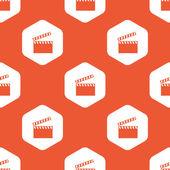 Orange hexagon clapperboard pattern — Stock Vector