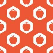 Orange hexagon apple pattern — Cтоковый вектор