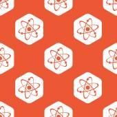 Orange hexagon atom pattern — Stock Vector