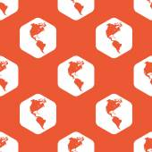 Orange hexagon America pattern — 图库矢量图片