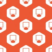Orange hexagon monitor pattern — Stock Vector