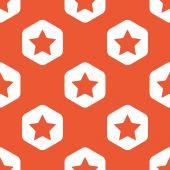Orange hexagon star pattern — Stock Vector