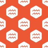 Orange hexagon Aquarius pattern — 图库矢量图片