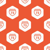 Orange hexagon Interstate 73 pattern — Stock Vector