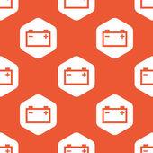 Orange hexagon accumulator pattern — Stock Vector