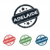Round Adelaide city stamp set — Stock Vector