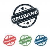 Round Brisbane city stamp set — Stock Vector