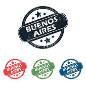 Round Buenos Aires stamp set — Stock Vector