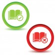 Two book manage icons — Stock Vector #77534430