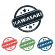 Постер, плакат: Round Kawasaki city stamp set