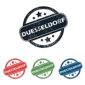 Round Duesseldorf city stamp set — Stock Vector
