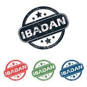 Round Ibadan city stamp set — Stock Vector