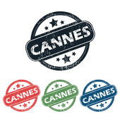 Round Cannes city stamp set — Stock Vector