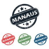 Round Manaus city stamp set — Stock Vector