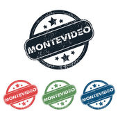 Kulatá sada razítko město Montevideo — Stock vektor