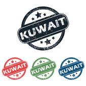 Round Kuwait city stamp set — Stock Vector