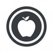 Rundy apple czarny znak — Wektor stockowy