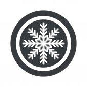 Ronde zwarte winter teken — Stockvector