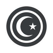 Redondo negro signo símbolo de Turquía — Vector de stock