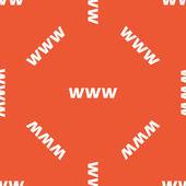 Modello arancio Www — Vettoriale Stock