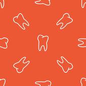 Orange tooth pattern — Stock Vector