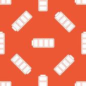 Patrón de batería llena naranja — Vector de stock