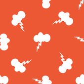 Orange thunderstorm pattern — Stock Vector