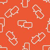 Orange chatt mönster — Stockvektor