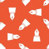 Patrón de punta de pluma de tinta naranja — Vector de stock