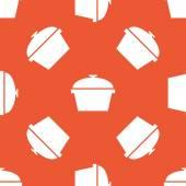 Orange potten mönster — Stockvektor