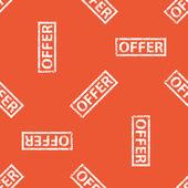 Orange OFFER stamp pattern — Stock Vector