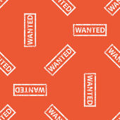 Orange WANTED stamp pattern — Stock Vector