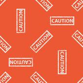 Orange CAUTION stamp pattern — Stock Vector
