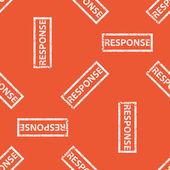 Orange RESPONSE stamp pattern — Stock Vector