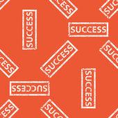 Orange SUCCESS stamp pattern — Stock Vector
