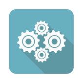 Square cogs icon — Stock Vector