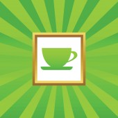 Cup picture icon — Stock Vector