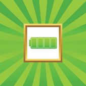 Icono de batería llena cuadro — Vector de stock