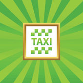 Taxi picture icon — Stock Vector